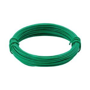 TRUSCO カラー針金 ビニール被覆タイプ グリーン 線径0.9mm TCW09GN
