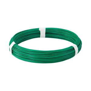 TRUSCO カラー針金 ビニール被覆タイプ グリーン 線径1.6mm TCW16GN