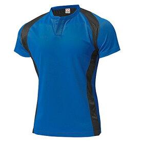 wundou(ウンドウ) ラグビーシャツ 吸汗 速乾 ブルー P3510-03 ブルー M