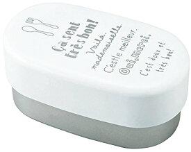 お弁当箱 ルパ オーバルランチ L ホワイト (上段)410ml、(下段)440ml T-46583