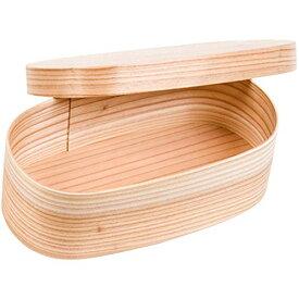 山下工芸(Yamasita craft) 日本製 エコ曲げわっぱ 楕円 小 被蓋 32845000