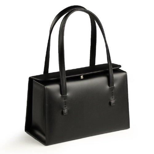 日本製 慶弔両用 本革ブラックフォーマルバッグ BOX型タイプ