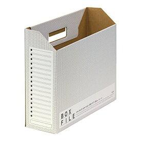 プラス ボックスファイル エコノミー 10冊 A4横 背幅100mm 553-989 ダークグレー
