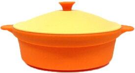 シリコンスチーマー ラウンド 24cm バレンシアオレンジ