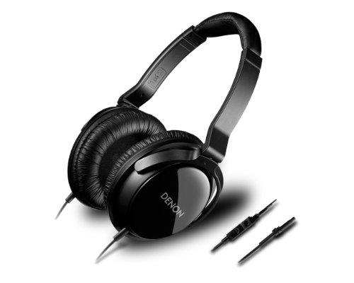 DENON 密閉型オーバーヘッドヘッドホン iPhone/iPad/iPod touch用3ボタン+マイク付き ブラック AH-D310R