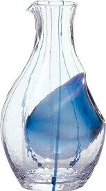 カラフェ 和ガラス 冷酒 ブルー 300ml