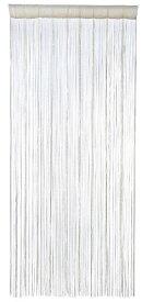 大橋新治商店 ハンドメイド のれん Bamboo Curtain フリンジカーテン ホワイト レース L 16-110