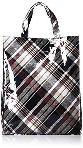 [パトリックコックス] PATRICK COX エコバッグ マチ付縦型トート 【クィーンチェックPVC】 PXLH6SH1 22 (ブラウン)