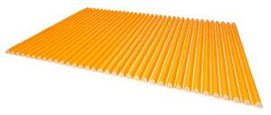 東プレ シャッター式風呂ふた カラーウェーブ 75×140cm オレンジ L14