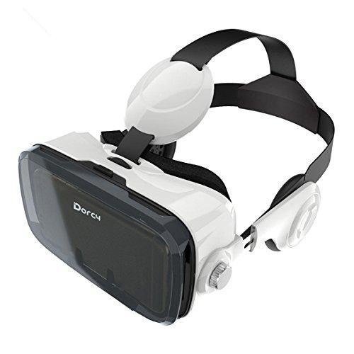 Dorcy 3d vr ゴーグル 3dvr メガネ 焦点距離調節 遠眼近眼対応 イヤホン付き ヘッドフォン