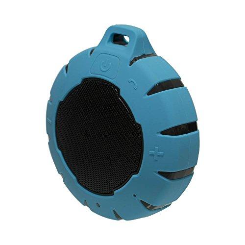 オウルテック Bluetooth 防水スピーカー 最大8時間再生可能 防水・防塵性能IP66取得 水に浮く マイク機能 カラビナ付 5W ライトブルー 1年保証 OWL-BTSPWP01-LBAMZ