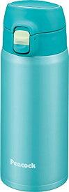 ピーコック ステンレスボトル ワンタッチマグ 0.4L スカイブルー AMY-40 ASK
