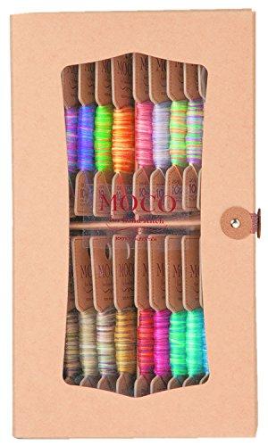 FUJIX フジックス MOCO モコ 紙箱セットD 10m 20色 グラデーションカラー 手縫い糸