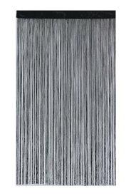 narumikk のれん ポリヒモスクリーン ブラック 150cm丈 19-959