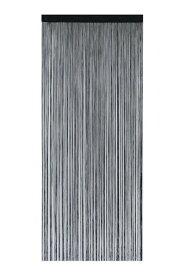 narumikk のれん ポリヒモスクリーン ブラック 210cm丈 19-960