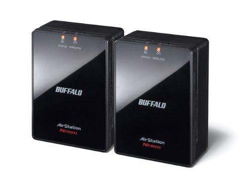 BUFFALO ネットワーク対応家電用 ワイヤレスユニット スターターパック2個セット WLAE-AG300N/V2