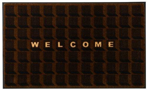 山崎産業 玄関マット ホップマット ショコラ ブラウン 60x90cm