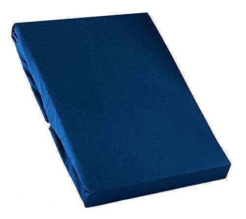 日本製 200本ブロード コットン100%カバーリング 敷き布団カバー シングルサイズ ロイヤルブルー ILC311000-121