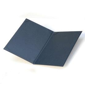 コレクト 調印・証書ホルダー紺A4判布レザー F-244-BL
