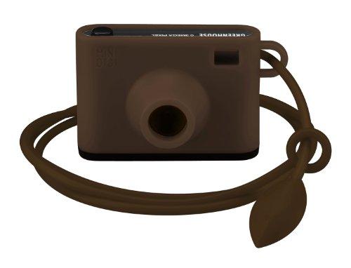 GREEN HOUSE ミニデジタルトイカメラ(30万画素) ポップ ブラウン GH-TCAM30PBR