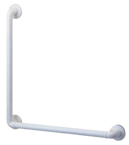 三栄水栓 【介護・手すり】L型ニギリバー バー直径32mm・長さ600×400mm W5792L-600X400