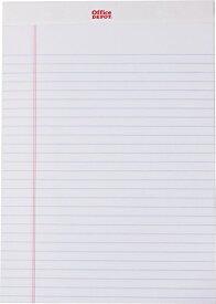 オフィス・デポ レターパッド レターサイズ(29.8x21.6cm) ホワイト 12冊パック/perforated writing pads letter size 12 pack