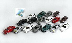 Nゲージ ジオラマ ミニカー 1/100スケール 17台セット おまけ付 KOZIMA Original package