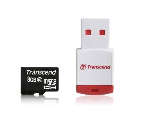 トランセンド・ジャパン microSDHCカード 8GB Class10 カードリーダー付