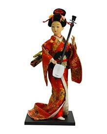 日本人形12インチ 三味線 A 303-061