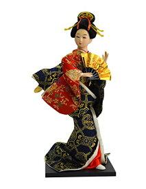 日本人形12インチ 扇子 B 303-064