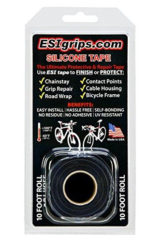 ESI grips(イーエスアイ グリップス) MTB シリコンテープ Silicorn Tape CESST10BK ブラック 幅25mm x 長さ3m