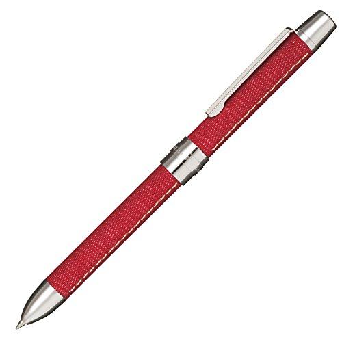 セーラー万年筆 多機能ペン 2色+シャープ レフィーノd デニム生地 レッド 160326230
