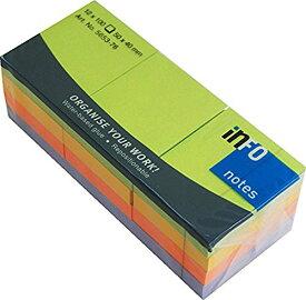 プリントインフォーム 付箋紙 info notes スプリングカラーミックスパック 4色