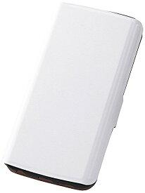 レイ・アウト Galaxy S6 edge ケース 手帳型スリムレザーケース スタンド機能付き ホワイト RT-SC04GSLC1/W