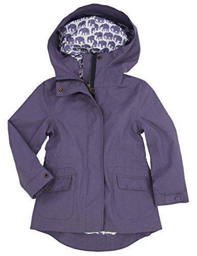 Hatley ハットレイ キッズ女の子 スプラッシュジャケット・レインコート、ライニング・パープルぞうさん、ファッショナブル 100cm 、4Y(104cm) マルチカラー 表地 綿66%、ナイロン34% 裏地 綿65%、ポリエステル35% 裏地袖部 ポリエステル100% RC9SAEL001