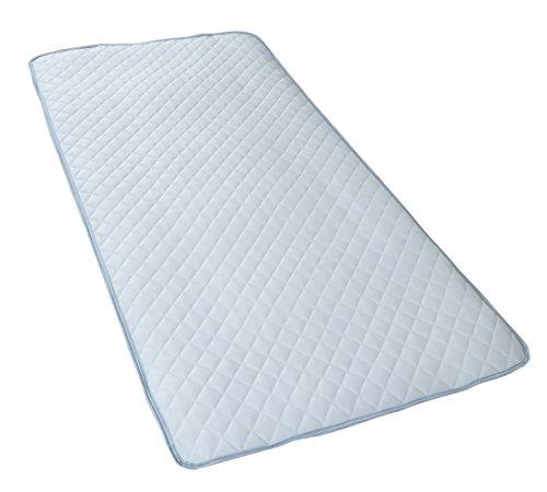 西川 リビング カラーパレット ひんやり 敷き パッド クイーン 160×205cm ブルー 2230-00035