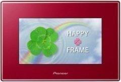 Pioneer HAPPY FRAME デジタルフォトフレーム 7型 レッド HF-T730-R