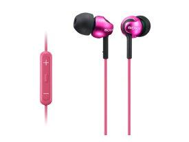 SONY カナル型イヤホン iPhone/iPod/iPad対応リモコン・マイク付 ピンク MDR-EX110IP/PI