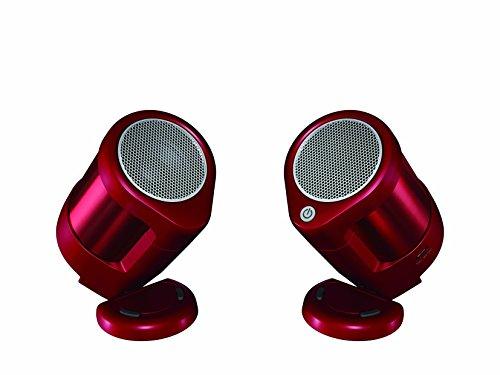 THERMOS(サーモス) VECLOS ヴェクロス デジタルオーディオ用スピーカー Bluetooth ワイヤレスポータブルスピーカー 【真空 エンクロージャー】 ステレオ レッド SSA-40S R