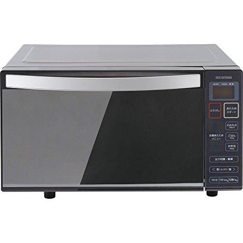 アイリスオーヤマ 電子レンジ 18L ミラーガラス 50Hz専用 東日本 フラットテーブル ブラック IMB-FM18-5