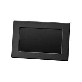 グリーンハウス デジタル フォトフレーム 7型 ワイド液晶 高精細 (800×480Pixel) ブラック GH-DF7V-BK