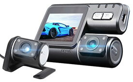 EONON ドライブレコーダー フロント+リア ダブルカメラ式 駐車監視機能 ハイビジョン (R0005) R0005
