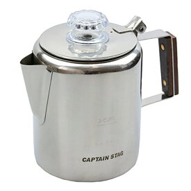 キャプテンスタッグ コーヒー ポット 18-8ステンレス製パーコレーター 3カップM-1225