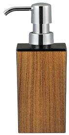 日本製 WOODY ウッディ 角型 小 ハンドソープ 黒×チーク 13-450284