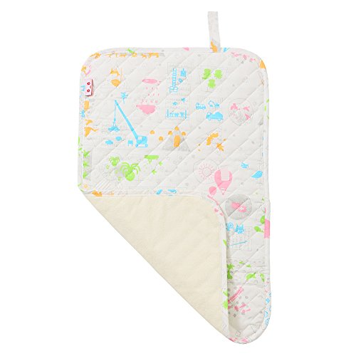 baby.e-sleep(ベビーイースリープ)×baby toi(ベビートーイ) baby book fu fu colorful おむつ替えシート 70×45cm