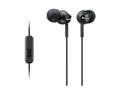SONY カナル型イヤホン スマートフォン対応リモコン・マイク付 ブラック MDR-EX110AP/B