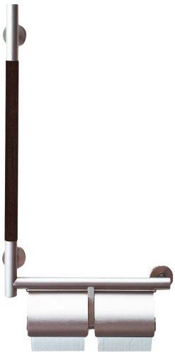 LIXIL(リクシル) INAX トイレ用 手すりKMタイプ 紙巻器付 左仕様 ホワイト KF-M10WL/WA
