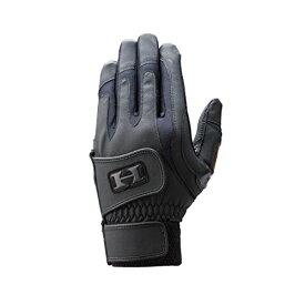 HI-GOLD(ハイゴールド) バッティング手袋 グライド ダブルバンド 両手用 高校野球対応 WH-400 ブラック M(23・24)