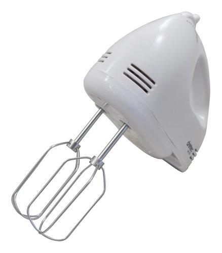 DRETEC 【スピード5段階切替 / 電源コード、ビーターが収納できるケース付き】 ハンドミキサー ホワイト HM-703WT