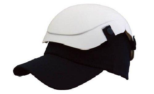 TRUSCO 折りたたみ式ヘルメット キャメット 防災用 ホワイト TSCMW